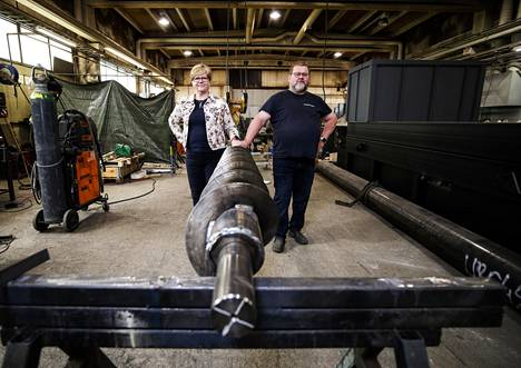 Kai and Katriina Oinonen's family business manufactures district heating power plants.