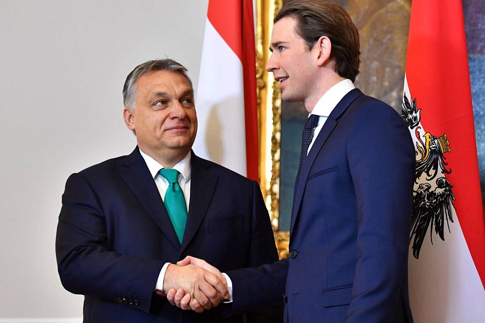 Hungarian Prime Minister Viktor Orbán (left) has increasingly transferred power to himself and his neighbors over the years.  Orbán and Kurz are friends, according to media reports.
