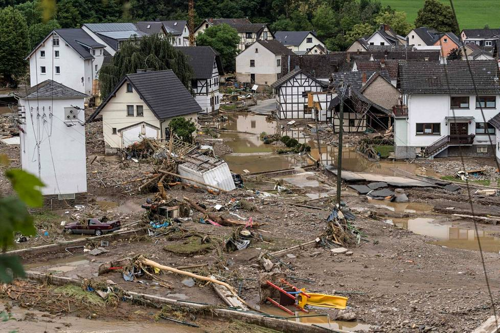 Flooded area in Schuld, Germany on Thursday.