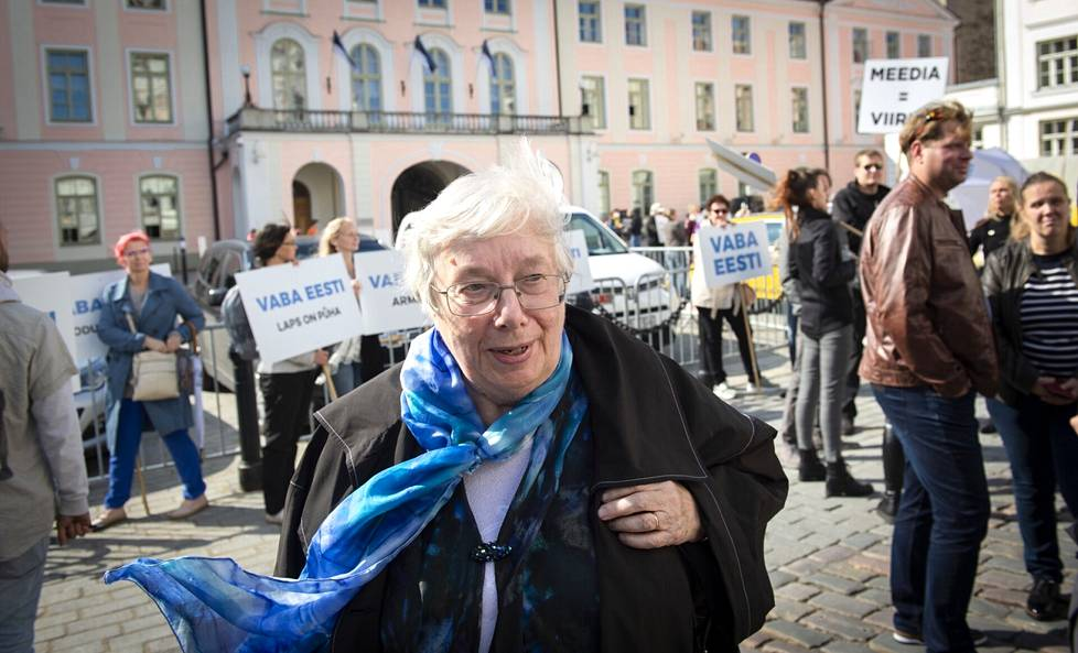 On Friday, Marju Lauristin participated in the 30th anniversary celebrations of Estonia's re-independence in Tallinn.