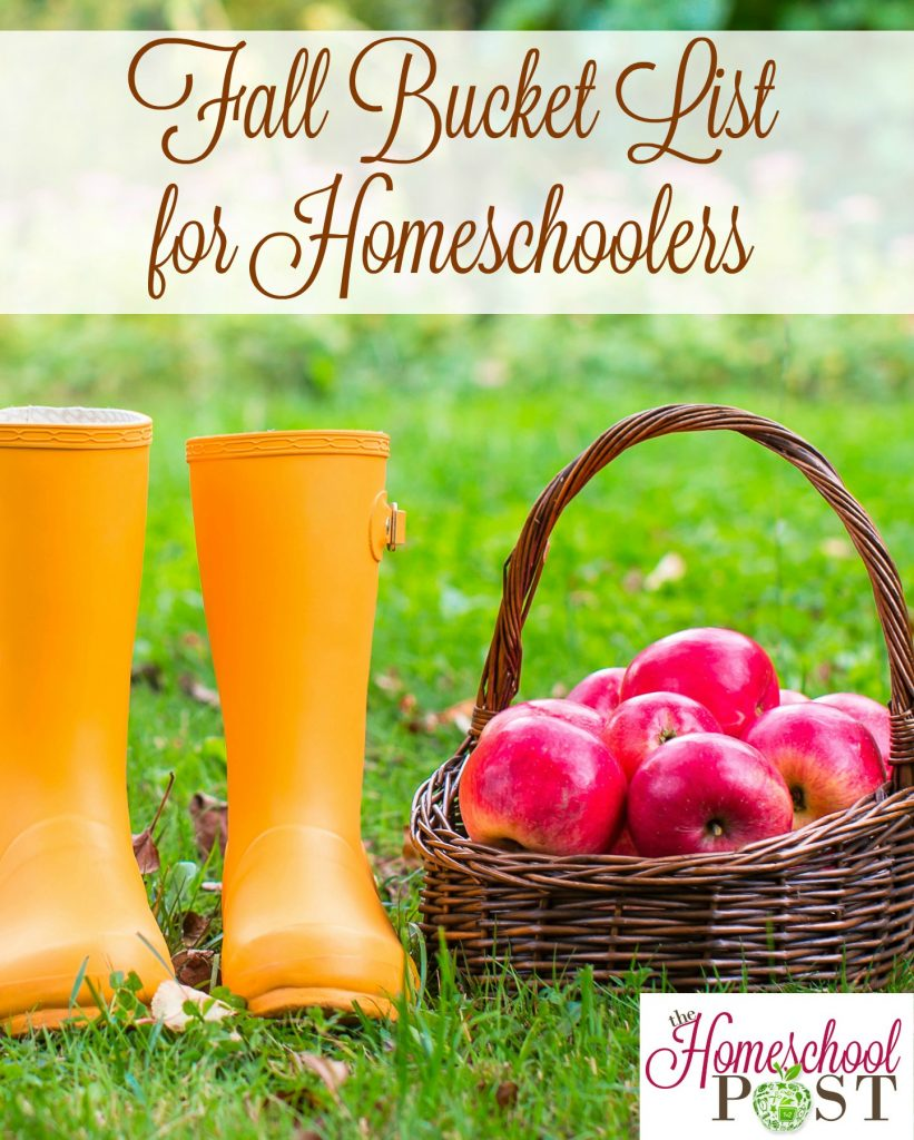 Check out these 25 ideas for the perfect fall bucket list for homeschoolers! hsbapost.com