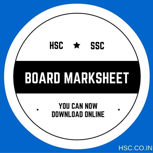 SSC HSC MARK SHEET