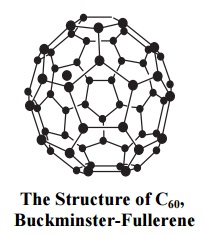 Structure of C60, buckminster- fullerend
