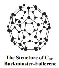 Structure of C60, buckminster- fullerend