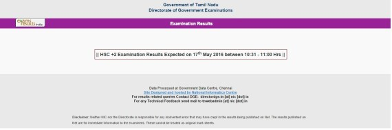2nd TN results 2016