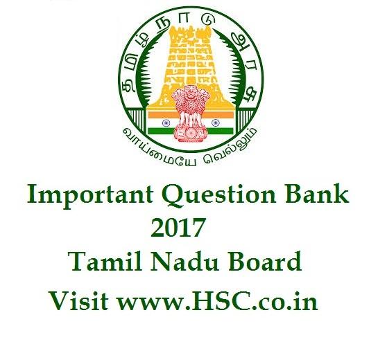 hsc tamil nadu imp que bank 2017