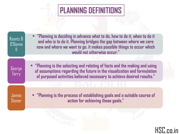 function of planning management