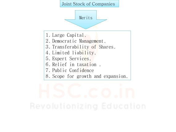 Merits of joint stock companies