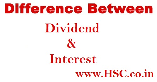 difference between dividend and interest
