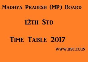 MP 12th Date Sheet 2017