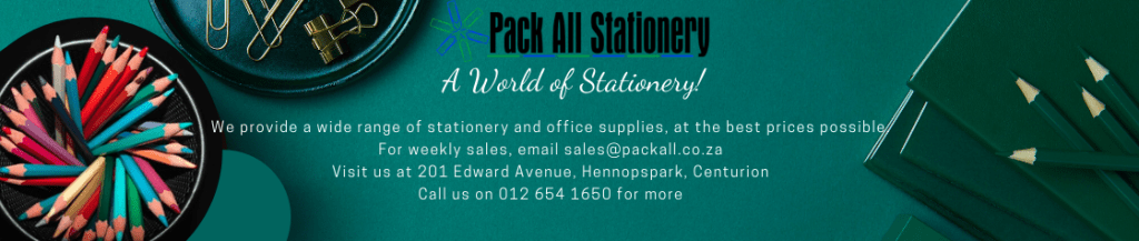 pack all stationery - website banner