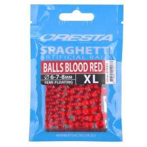 spaghetti bals blood red