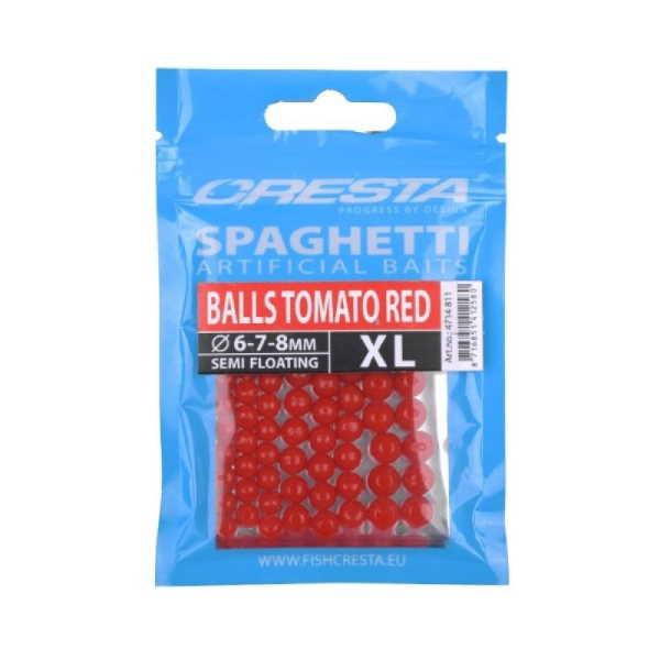 spaghetti bals tomato red