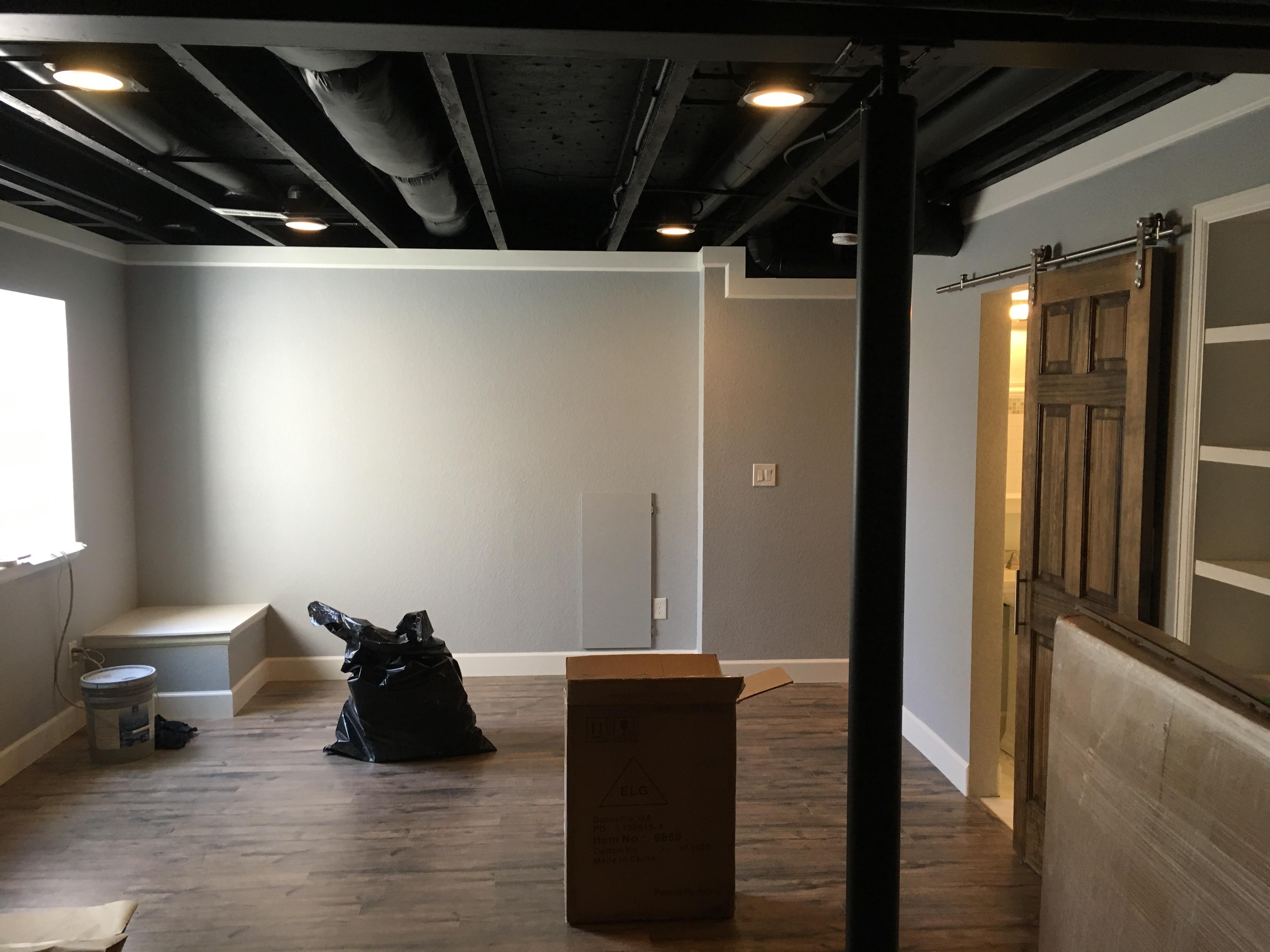 Black Ceiling Basement | HS Design Build