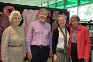 Guild President Janet Allsworth. Ron Norris, Mayor of Mosman Park, Shire President Rachel Thomas and Ruth Reid Guild Patron (A.M.)