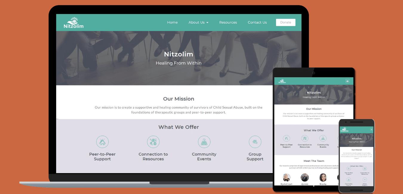 Nitzolim screenshots for portfolio