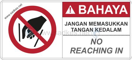 Sign Dilarang Memasukkan Tangan Kedalam