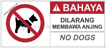 Sign Dilarang Membawa Anjing