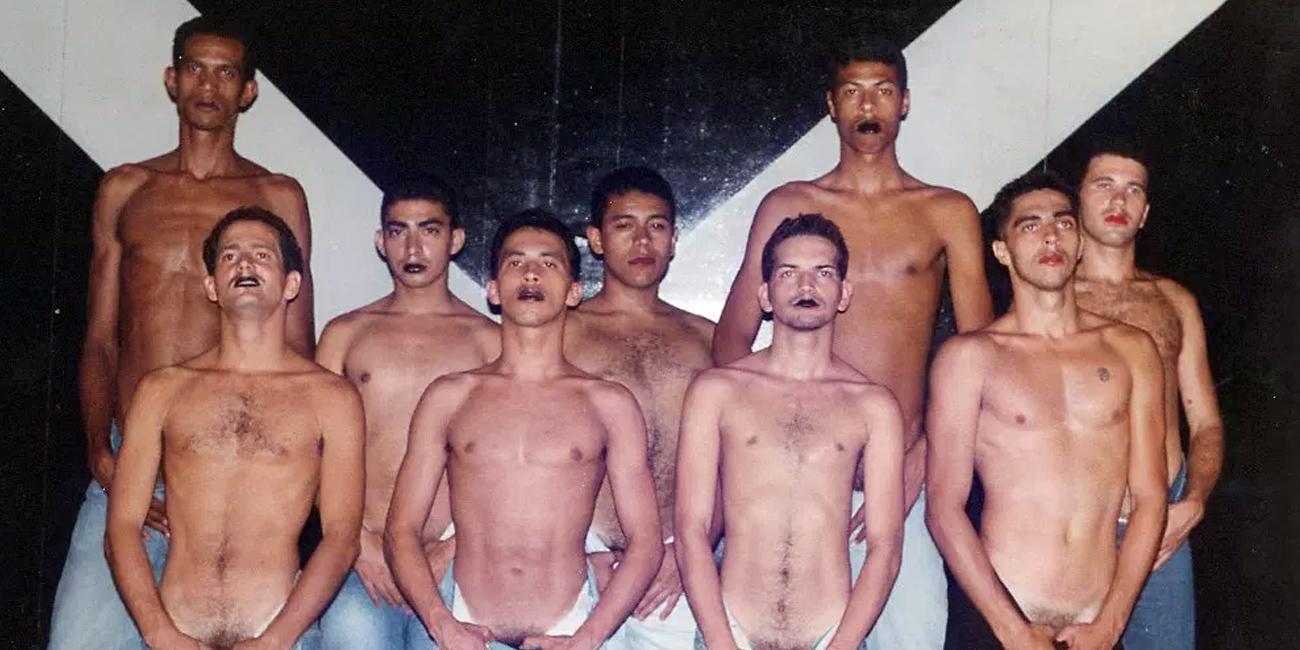 Ensaio geral de Cabaret Prevenção no extinto Teatro Alaska no Rio de Janeiro, no ano de 1996.