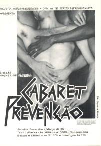 CARTÃO POSTAL - CABARET PREVENÇÃO - FRENTE - 1995