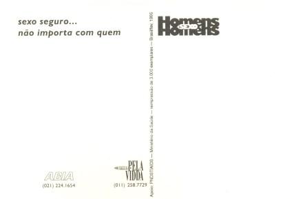 CARTÃO POSTAL - PROJETO TSHIRT - 1995 - VERSO