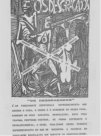 CONVITE - OS DESGRAÇADOS (FRENTE)K