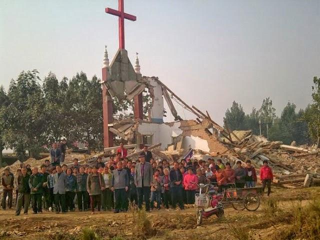 被拆毀的教堂--來源基督日報(香港)