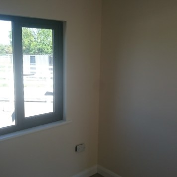 Bedroom and double glazed window.