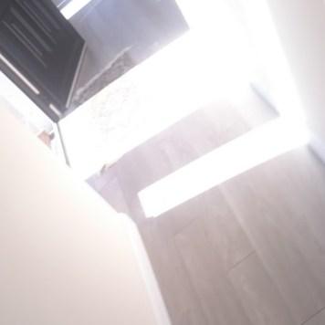 Corridor wooden floor.
