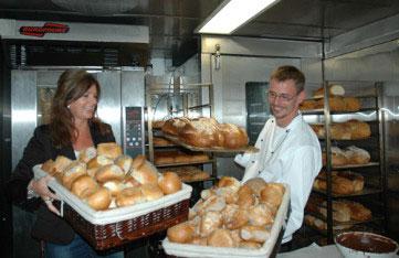 """I bakeriet ombord på MS """"Bergensfjord"""" Foto: Fjord Line"""