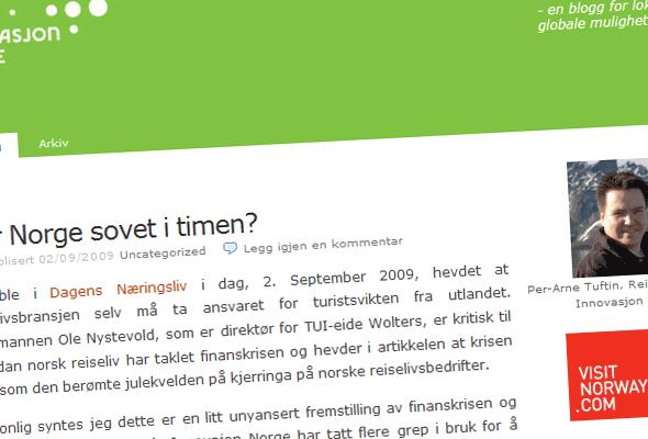 Faksimile av Per-Arne Tuftins blogg