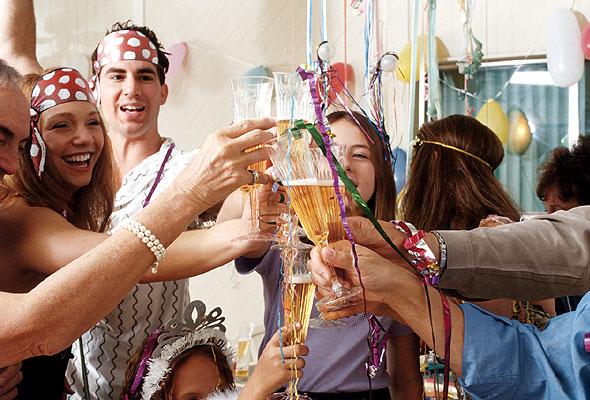 Fest med champagne