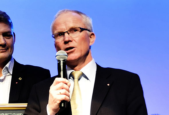 Olav Fjell, konsernsjef i Hurtigruten ASA. Fotograf: Catharina Wandrup/Knut Joner