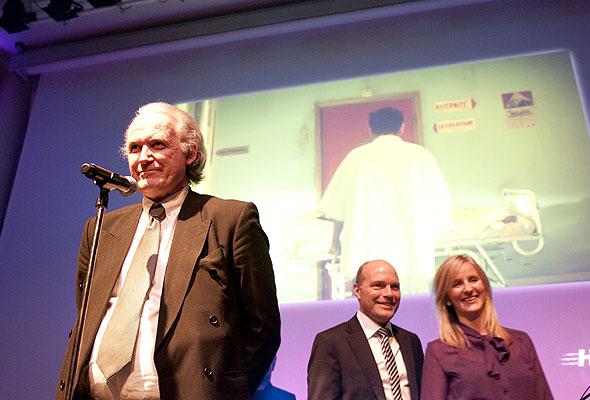 Representanter for Europeiske Reiseforsikring under prisutdelingen på HSMAI-prisfesten. Fotograf: Catharina Wandrup/Knut Joner