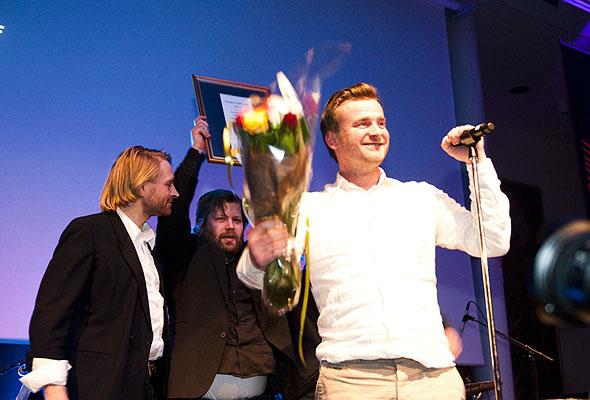 Representanter for Restplass.no under prisutdelingen på HSMAI-prisfesten. Fotograf: Catharina Wandrup/Knut Joner