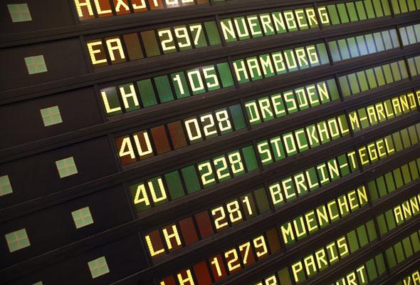 Infotavle på flyplass