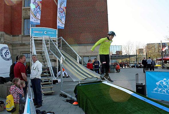 Skiforbundets mobile hoppbakke i Kiel