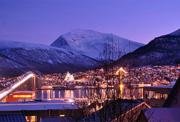 Mørketid i Tromsø. Fotograf: oslopolar/Wikipedia