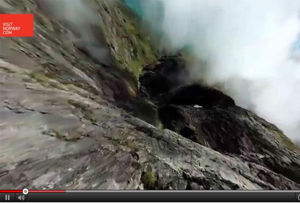 Skjermdump fra Visitnorways 360-graders film