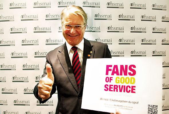Fabian Stang, Oslos ordfører, er Fan of Good Service.  Han åpnet også HSMAI Dagen i Oslo tirsdag 9. oktober 2012..