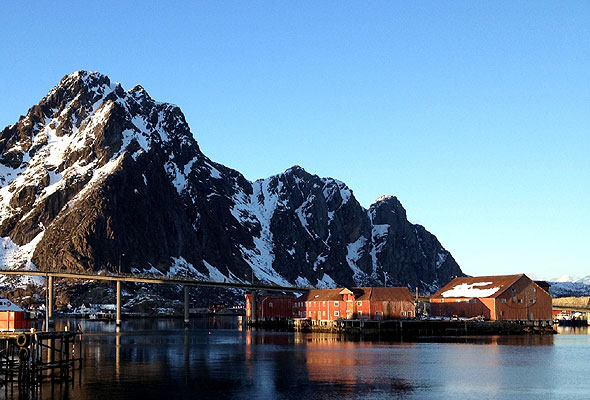 Bukkedauen i Svolværs indre havn, i Lofoten. Foto fra Thon Hotels