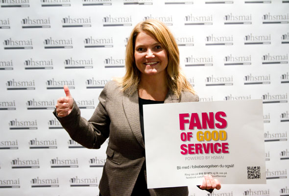 Jennie Aspegren. Fans of good service