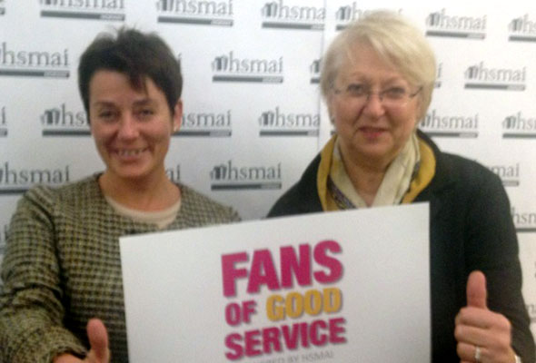 Marit Utaker og Hilde Stoklasa. Fans of good service