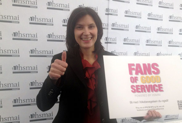 May Britt Hansen. Fans of good service