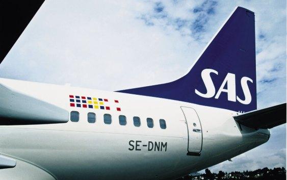 En Boeing 737-maskin fra SAS (foto fra SAS Group).