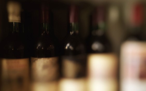 Vinflasker. Fotograf: Jarle Petterson