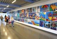 Internasjonal barnekunst på Oslo Lufthavn