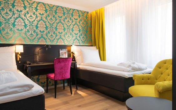 Fra et av rommene på Thon Hotel Rosenkrantz Bergen. Foto fra Thon Hotels.