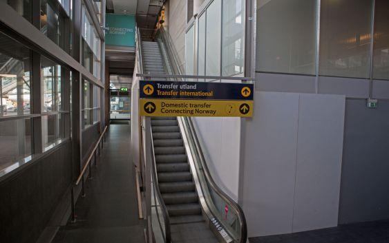Domestic Transfer ved Oslo Lufthavn. Foto fra Avinor Oslo Lufthavn.