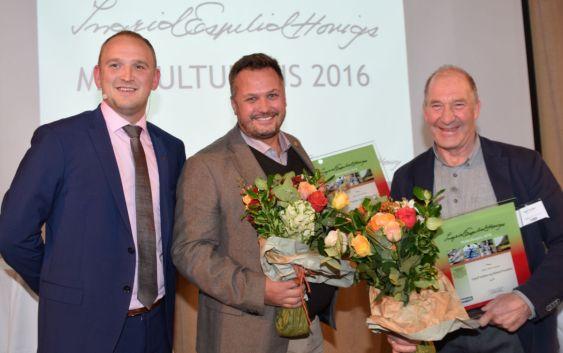 Statsråd Jon Gerog Dale, Mikael Forselius og Ingulf Galåen. Foto fra Matmerk.